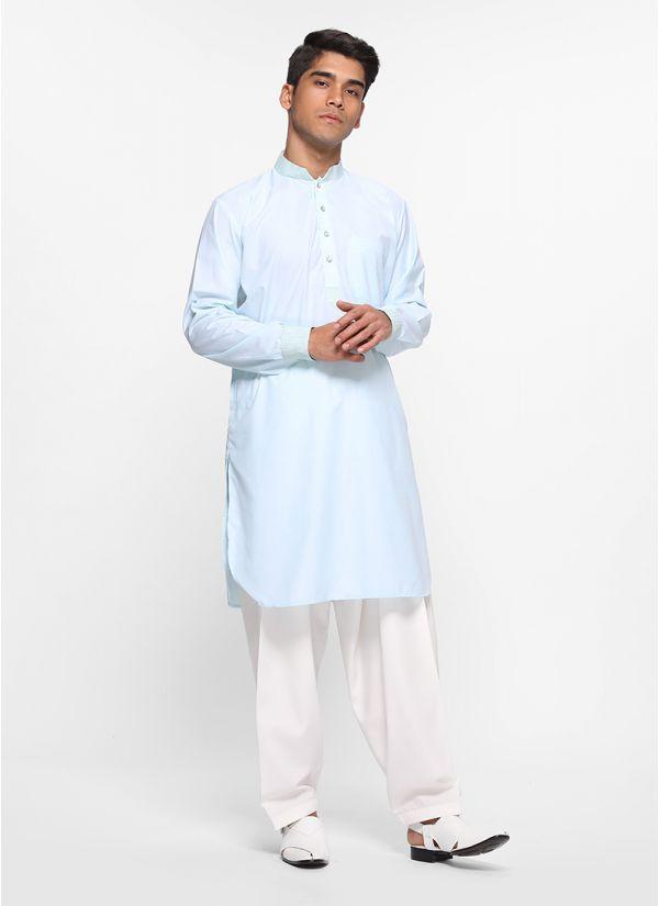 Mint Tonal Salwar Set
