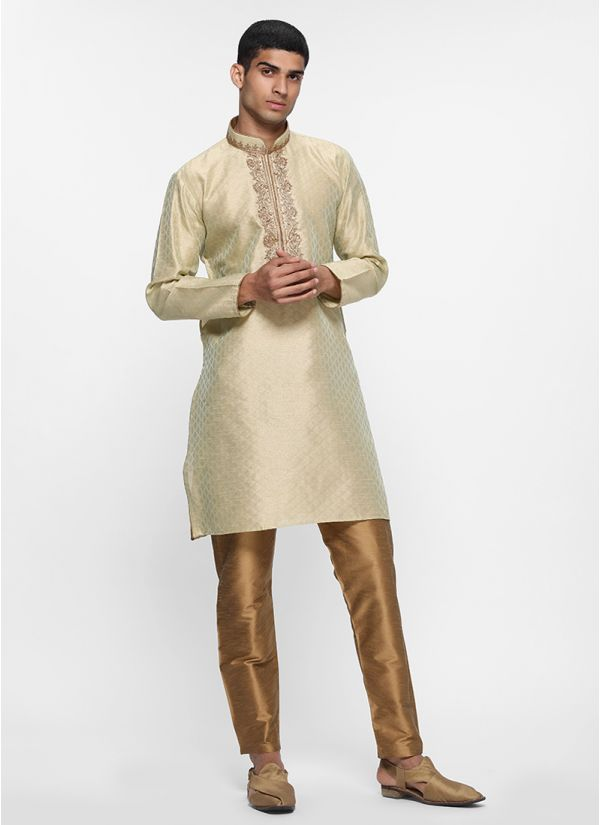Regal Mint Contrast Kurta