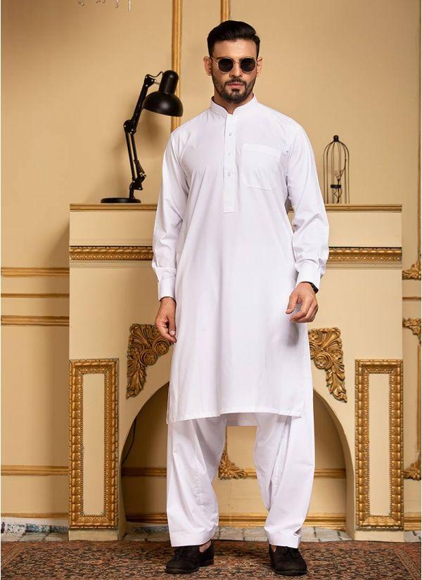 White  Pure Cotton Kurta Salwar