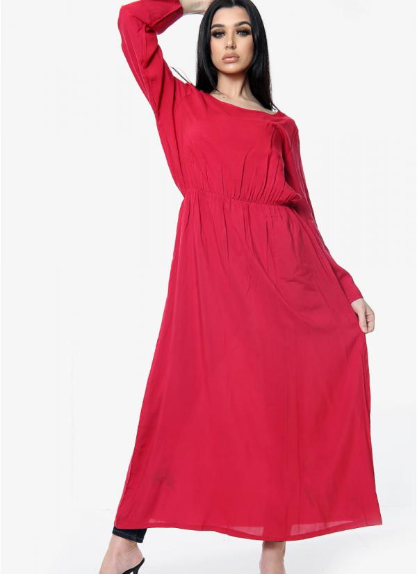 Plain Elasticated Dress