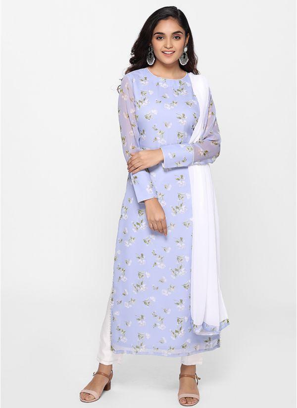 Petite Ditsy Floral Print Suit