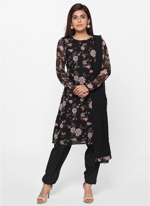 Petite Trendy Floral Print Salwar Suit