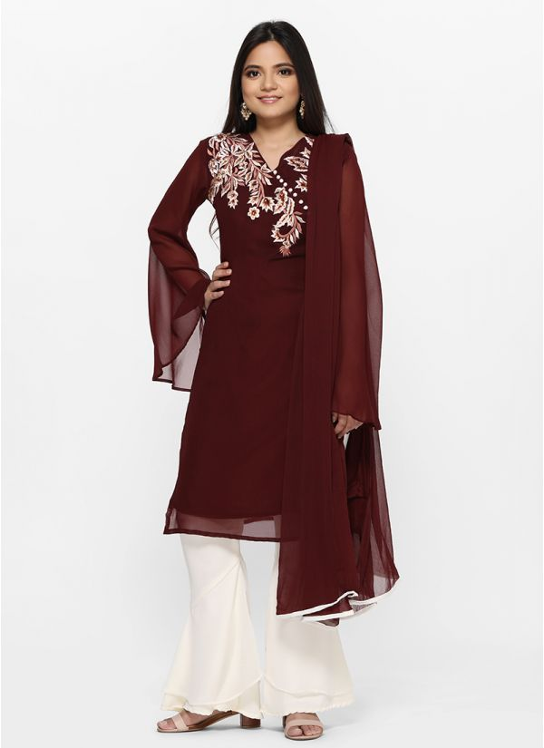 Modern Tiered Gharara Suit