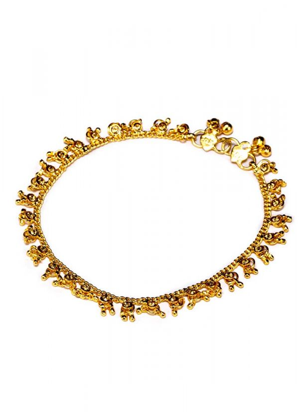 Gold Ghunghroo Anklets
