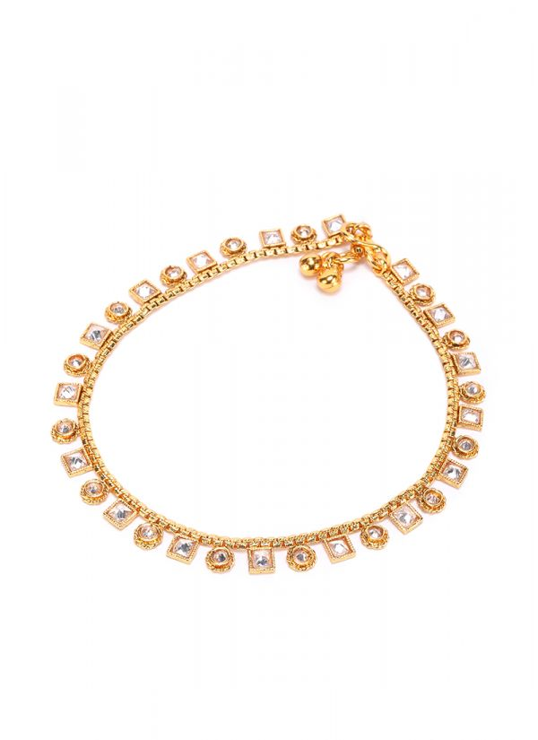 Traditional Kundan Anklets