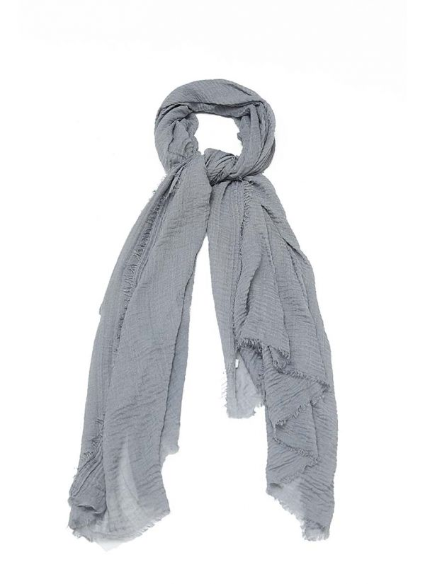 Woven Oversize Scarf SCR-56-GY-STD