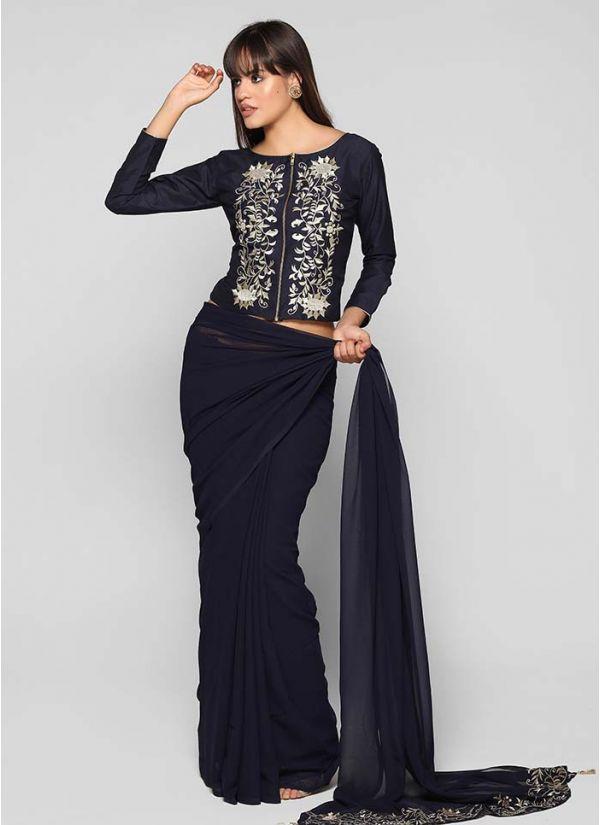 Zari Embellished Saree