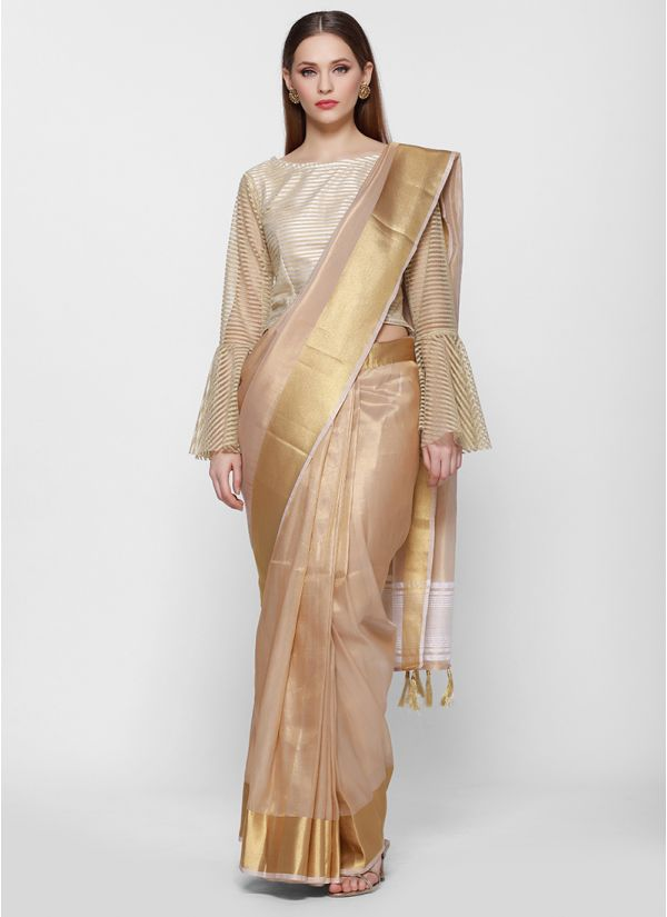 Royal Tissue Gold Woven Border Saree
