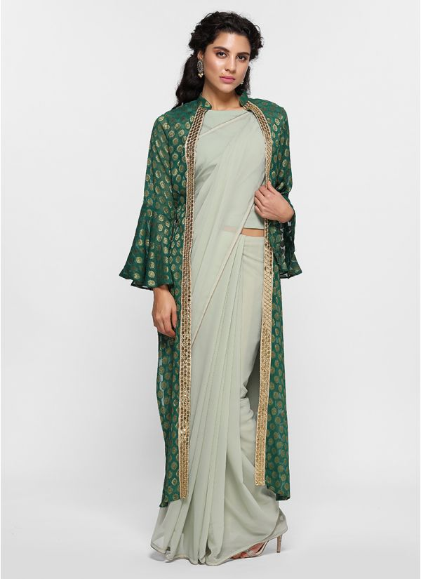 Jacquard Jacket Saree