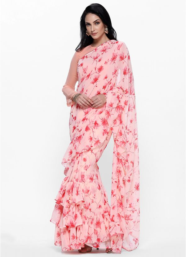 Fresh Floral Frill Saree