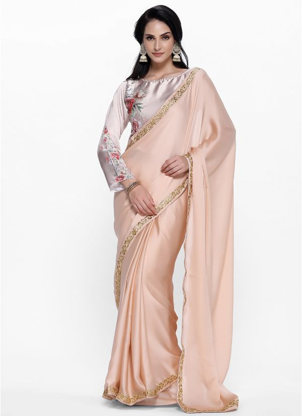 Placement Rose Print Saree