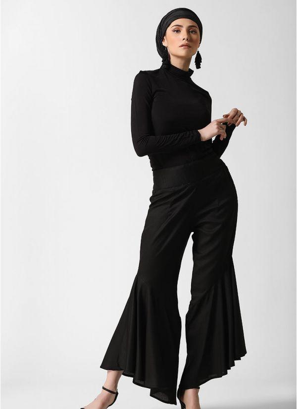 Frill Noir Trousers