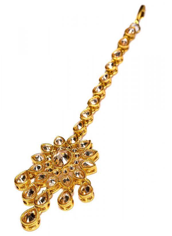 Gold Kundan Luxe Tikka