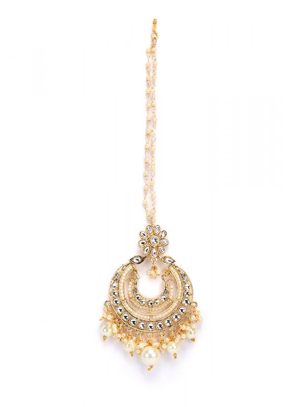 Gold Stone And Pearl Tikka