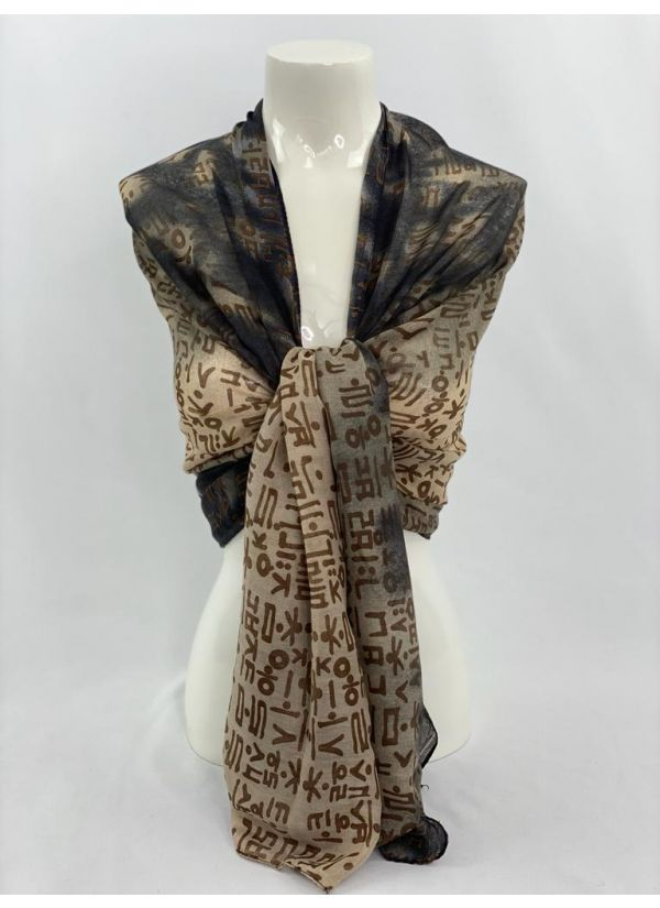 Abstract Scarf SWH-102-GY-STD