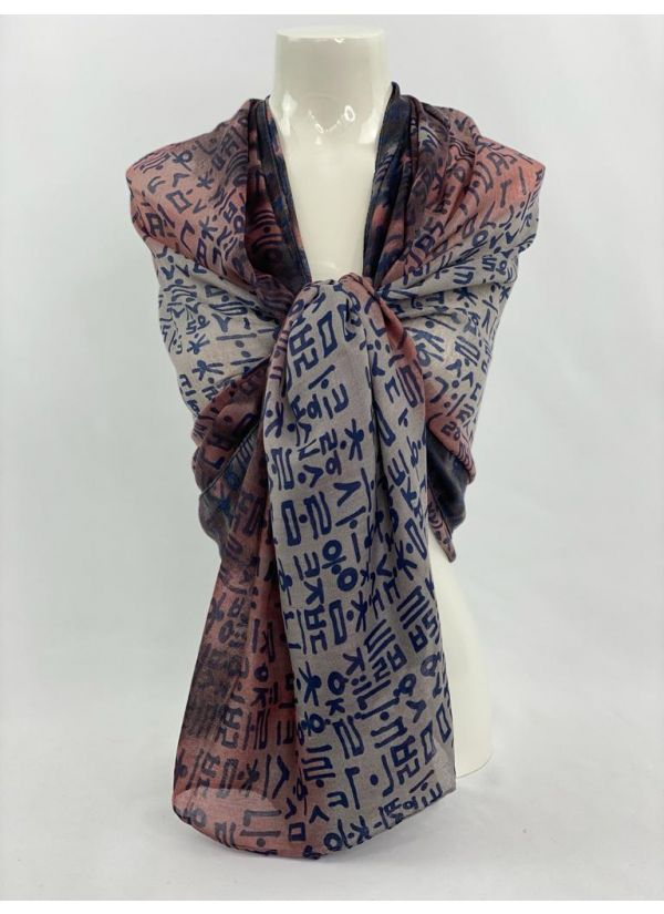 Abstract Scarf SWH-102-BL-STD