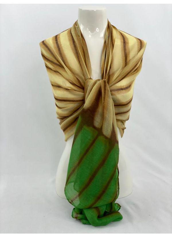 Striped Ombre Scarf SWH-106-GR-STD