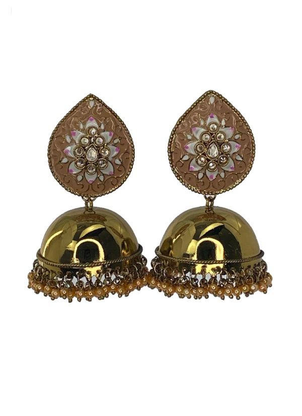 Mouse Brown Crafted Jhumkis